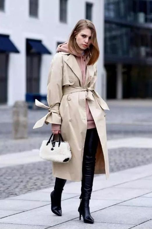 秋季用卫衣搭各种款式的外套,时髦有腔调,心动了吗?图片